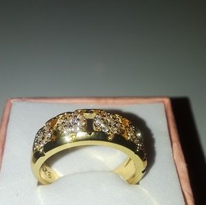 18k goldoverlay, 925stamped, size7 new